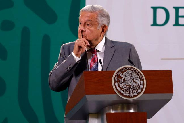 Mexican President Andrés Manuel López Obrador speaking in Mexico City. (PA Images)